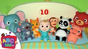 متن ترانه کودکانه انگلیسی آموزش اعداد | Ten In The Bed